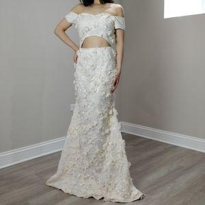 Prom dress custom cream floral JANE.X Emma